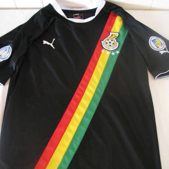 new styles 081d6 21d3b Authentic Puma Ghana Soccer Jersey 2014 FIFA WC